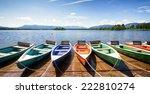 Row Boats At A Lake
