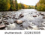 River Rapids In Autumn