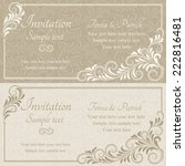 baroque invitation card in old... | Shutterstock .eps vector #222816481
