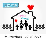 happy family  father mother... | Shutterstock .eps vector #222817975
