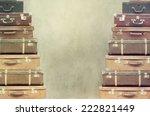 vintage  suitcase | Shutterstock . vector #222821449