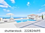 relax near the pool   Shutterstock . vector #222824695