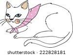 white kitty | Shutterstock .eps vector #222828181