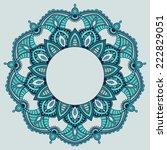 circular pattern mandala... | Shutterstock .eps vector #222829051