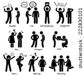 human man character behaviour... | Shutterstock . vector #222830101