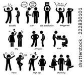 human man character behaviour... | Shutterstock . vector #222830101