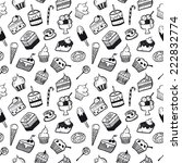 sweet pattern black and white | Shutterstock .eps vector #222832774
