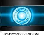 blue red light abstract... | Shutterstock .eps vector #222833551