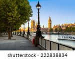 Street Lamp On South Bank Of...