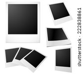 set of blank printed photos... | Shutterstock . vector #222838861