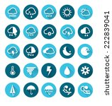 vector of weather icons set  ...