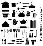 set of kitchen utensil and... | Shutterstock .eps vector #222841849