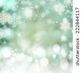 christmas background with bokeh ... | Shutterstock . vector #222844117