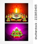 deepak diwali background set... | Shutterstock .eps vector #222853405