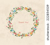 invitation card with floral...   Shutterstock .eps vector #222854539