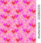 valentine's day seamless ... | Shutterstock .eps vector #222862231