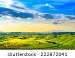 tuscany  rural sunset landscape.... | Shutterstock . vector #222872041
