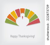 thanksgiving greeting card with ... | Shutterstock .eps vector #222873739