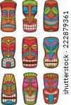 hawaiian tiki god classic... | Shutterstock .eps vector #222879361