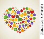 i love fruits. vector concept....