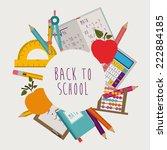 education design over white... | Shutterstock .eps vector #222884185