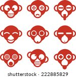 Monkey Ape Head Avatar Cartoon...