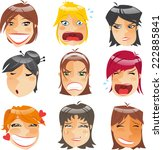 woman head people character... | Shutterstock .eps vector #222885841