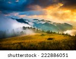 amazing mountain landscape with ... | Shutterstock . vector #222886051