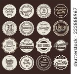 premium quality retro labels | Shutterstock .eps vector #222888967
