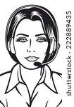 female helpline operator with...   Shutterstock .eps vector #222889435