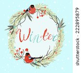 Cute Winter Wreath With Pine ...