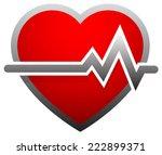 heart with heartbeat  heart... | Shutterstock .eps vector #222899371