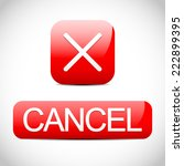 cross sign with cancel button....