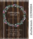 wedding card invitation with... | Shutterstock .eps vector #222900004
