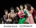 group of crying cirque clowns... | Shutterstock . vector #222904429