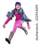 autumn portrait of happy active ... | Shutterstock . vector #222914695
