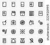 freezer icons | Shutterstock .eps vector #222920995