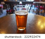 a pint of english ale beer in a ... | Shutterstock . vector #222922474