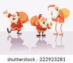 set happy christmas santa claus.   Shutterstock .eps vector #222923281