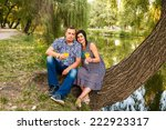 pregnant woman and her husband... | Shutterstock . vector #222923317