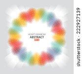 rainbow heart abstract | Shutterstock .eps vector #222927139