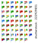 flags of africa countries... | Shutterstock . vector #222929851