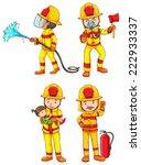illustration of many firemen...   Shutterstock .eps vector #222933337