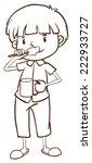 illustration of a plain sketch... | Shutterstock .eps vector #222933727