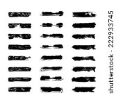 vector set of grunge brush... | Shutterstock .eps vector #222933745