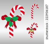 christmas red and white sweets... | Shutterstock .eps vector #222936187