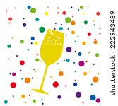 toast to the party  vector... | Shutterstock .eps vector #222943489
