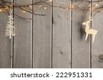 christmas decoration over... | Shutterstock . vector #222951331