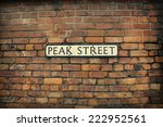 old brick wall and vintage sign ... | Shutterstock . vector #222952561