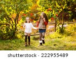 two adorable kids having fun... | Shutterstock . vector #222955489